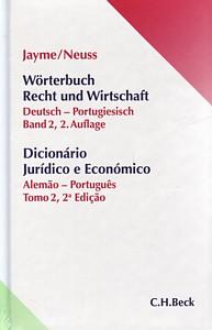 Wörterbuch Recht und Wirtschaft Deutsch-Portugiesisch